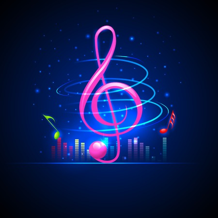 notation: easy to edit vector illustration of abstrac musical background with music notes