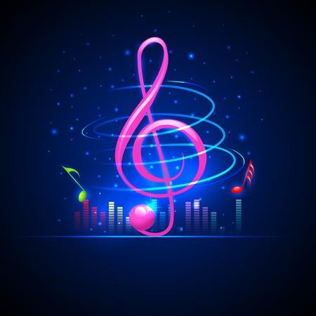 clave de fa: fácil de editar ilustración vectorial de fondo musical abstracción con notas musicales