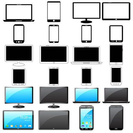 easy to edit vector illustration of modern gadget Stock Vector - 26173999