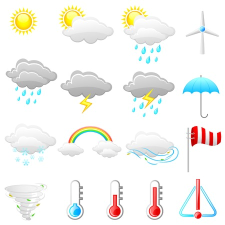 monsoon clouds: easy to edit vector illustration of weather icon Illustration