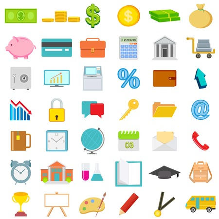 easy to edit vector illustration of icon set for business, education and financial Vector