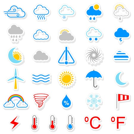 easy to edit vector illustration of weather icon Vector
