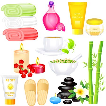 easy to edit vector illustration of Spa Object Vector