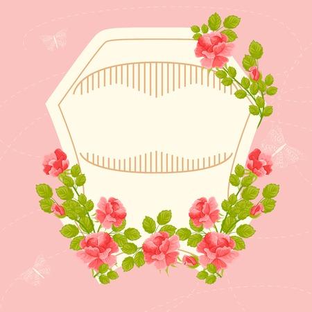 illustration of floral vintage card Vector
