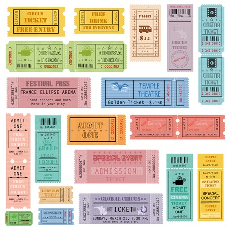 illustration of ticket collection Vector