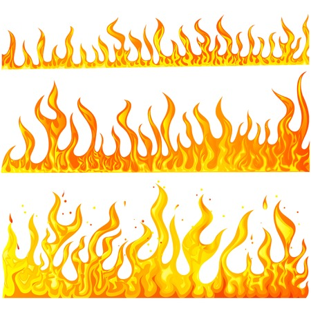 illustration of fire flame collection