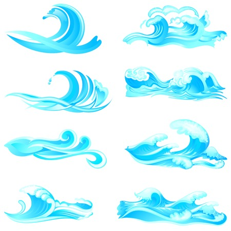 illustration of waves collection