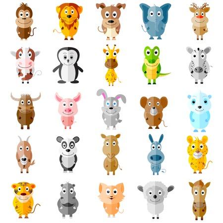 wild donkey: illustration of animal icons