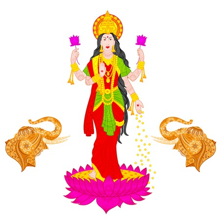 illustration of Goddess Lakshmi Illustration