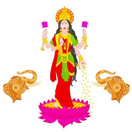 lakshmi: illustration of Goddess Lakshmi Illustration