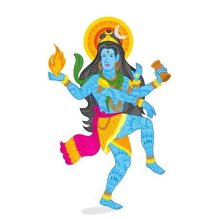 巡礼: シヴァ神の図  イラスト・ベクター素材