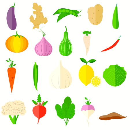 illustration of vegetable icons Vector