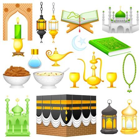 easy to edit vector illustration of object for Eid design