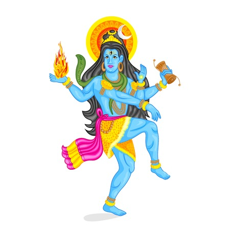 popular belief: easy to edit vector illustration of Lord Shiva