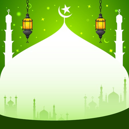 religious event: easy to edit vector illustration of Iftar Party background Illustration