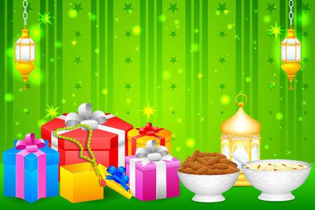 festival vector: easy to edit vector illustration of gift for Eid festival