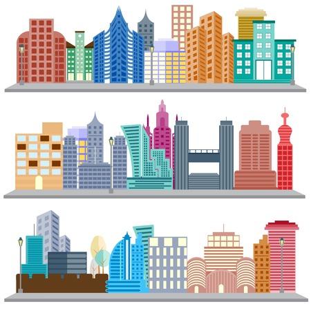 scraper: easy to edit vector illustration of cityscape with skyscraper building