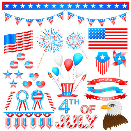 easy to edit vector illustration of 4th of July design element Vector