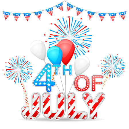 easy to edit vector illustration of 4th of July background Vector