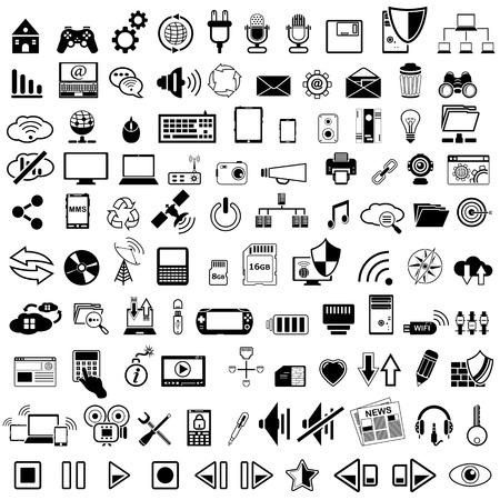 Technology icon Illustration