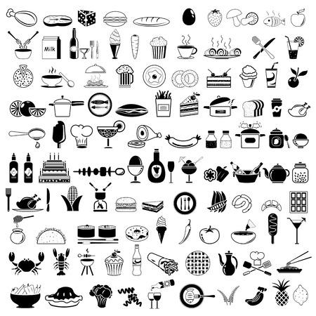 Ikony żywności Ilustracje wektorowe