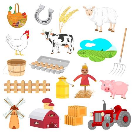 objects: Farm Objects Illustration