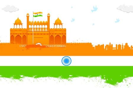 agosto: India sfondo con Red Fort