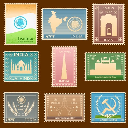 Indian stamp Vector