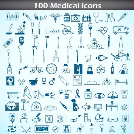 medicamentos: Conjunto de iconos m�dicos
