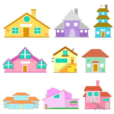 Building Icon Collection Vector