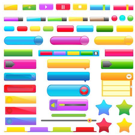 button down: Colorful Web Button
