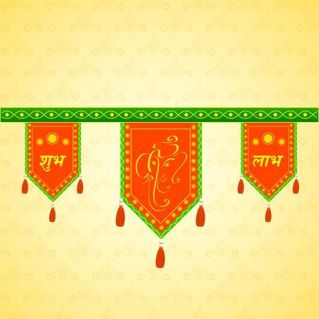 lord: Porte suspendu pour la décoration traditionnelle indienne Illustration