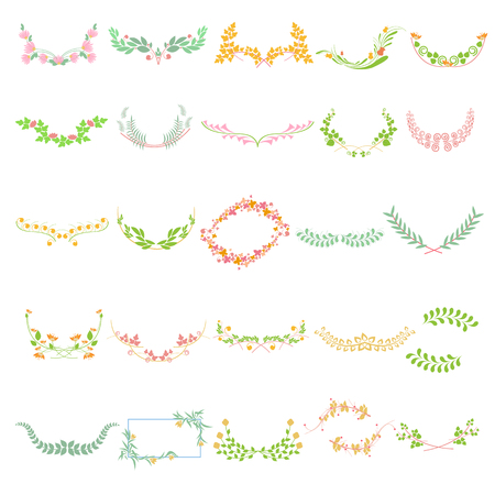 Floral calligraphic design Vector