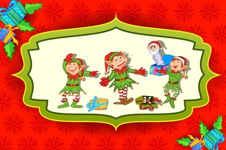 winter vacation: easy to edit vector illustration of Illustration