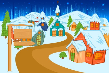 Winter beauty during holy Christmas Vector