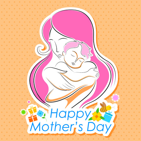 easy to edit vector illustration of Mothers Day Backgroud Vector
