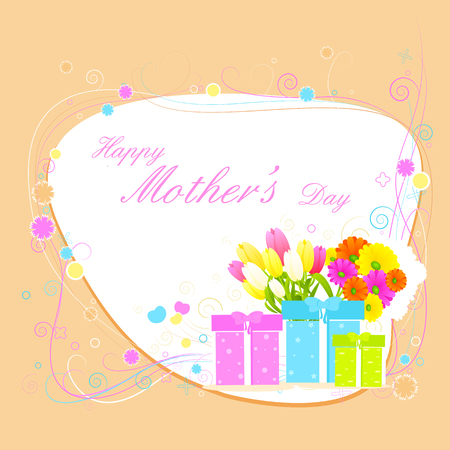 backgroud: easy to edit vector illustration of Mothers Day Backgroud