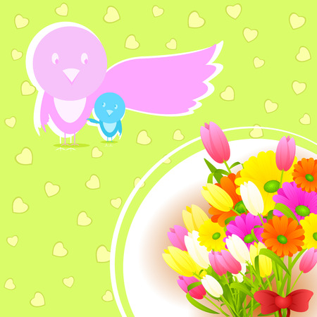 easy to edit vector illustration of Mothers Day Backgroud
