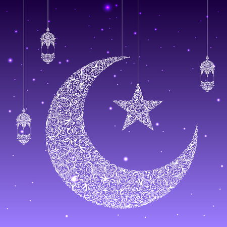 easy to edit vector illustration of Eid Mubarak (Happy Eid) card