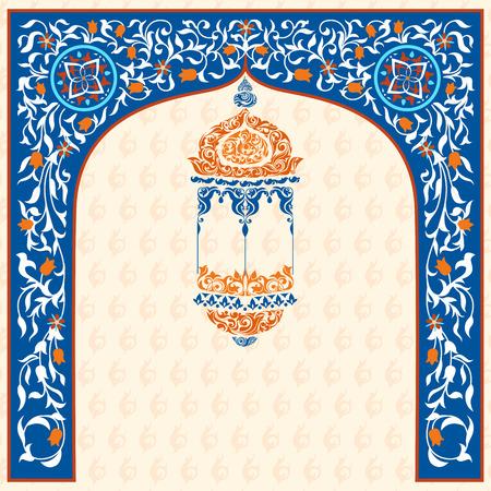 faroles: fácil de editar ilustración vectorial de Eid Mubarak (Happy Eid) de fondo Vectores