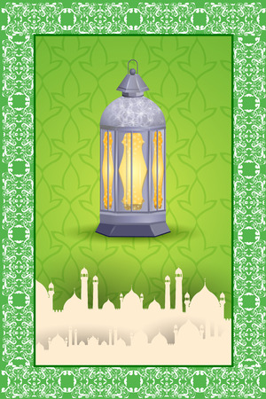 holiday celebrations: easy to edit vector illustration of Eid Mubarak (Happy Eid) background