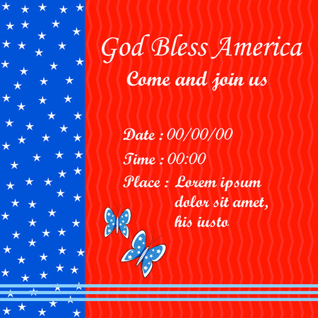 illustration editable: easy to edit vector illustration of 4th of July Independence Day of America background Illustration