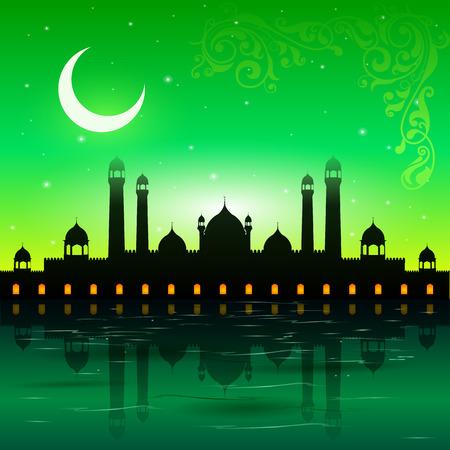 ramzan: easy to edit vector illustration of Eid Mubarak, Happy Eid background