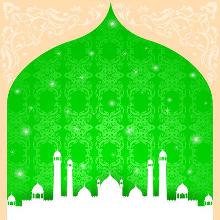 easy to edit vector illustration of Eid Mubarak, Happy Eid background