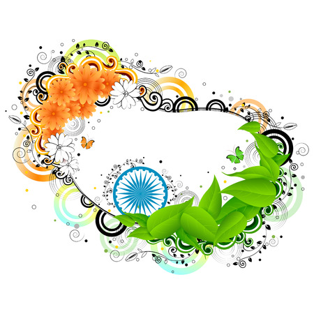 bharat: easy to edit vector illustration of India Background