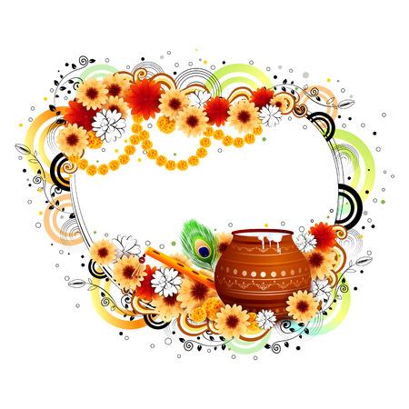 editable: easy to edit vector illustration of Happy Krishna Janmashtami Illustration