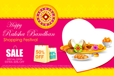 shopping sale: easy to edit vector illustration of Raksha bandhan shopping Sale
