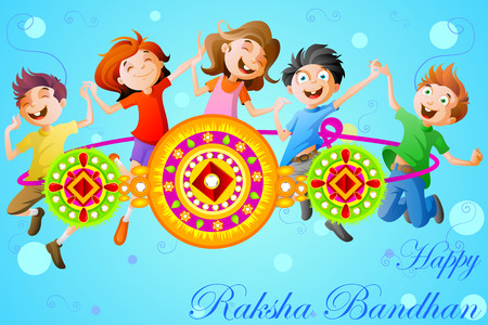 sisters: easy to edit vector illustration of Raksha bandhan celebration Illustration