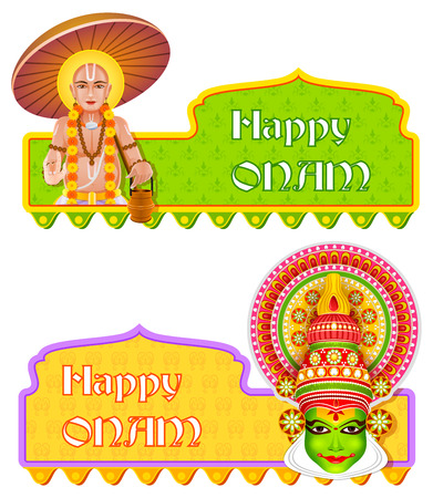 onam: easy to edit vector illustration of Happy Onam background