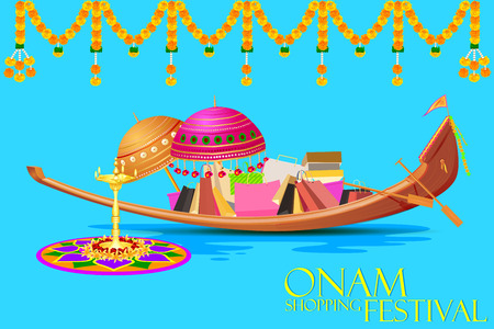 sravanmahotsav: easy to edit vector illustration of Onam Sale and promotion offer